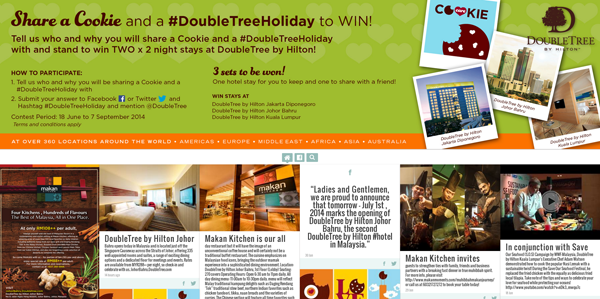 Double Tree Hashtag Contest